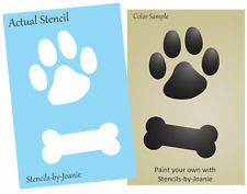 STENCIL Paw Print Dog Bone You paint Pet decor Cat Canine Animal Vet Office Sign