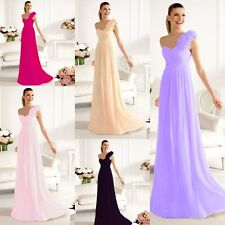 Elegant Chiffon One-Shoulder Formal Bridesmaid Evening Gown Ball Gown Prom Dress