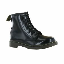 Dr.Martens Delaney Black Leather Kids Boots