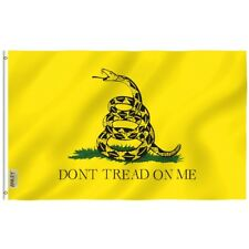 ANLEY Don't Tread On Me Gadsden Flag Tea Party Banner Polyester 3x5 Foot Flags