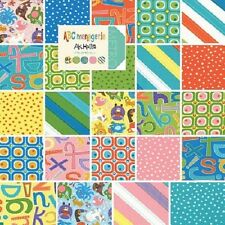 Moda ABC Menagerie Quilting Sewing Fabric 100% Cotton By the Yard Up to 45""