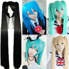 UK Sell Long Straight Vocaloid Hatsune Miku Wig Cosplay Party Fancy Dress Blue B