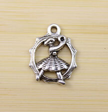 30/60/100 PCS wholesale:Very beautiful Tibet silver dancer Charm pendant 19x16mm