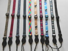UK MADE MANDOLIN / UKULELE STRAP COMPLETE WITH TIE CORD - 10 DESIGNS