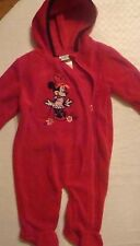 BABY GIRLS DISNEY MINNIE MOUSE HOODED FLEECE PRAM/SNOWSUIT  SIZES NB-9 MONTHS