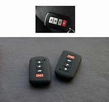 silicone case for toyota camry rav4 prius hilux key remote cover shell sticker
