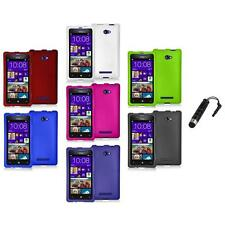 Color Hard Snap-On Rubberized Case Cover+Stylus Plug for HTC Windows Phone 8X