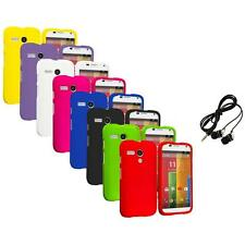 For Motorola Moto G Hard Rubberized Matte Snap-On Case Cover Headphones