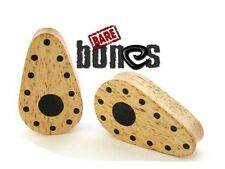 "Bare Bones Pair inlaid Organic Crocodile Wood Plugs 0G to 2"" [Select Your Size]"