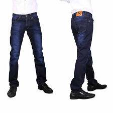 Men's Regular Fit Jeans Straight Leg Trousers Pant W28 to W40 NEW