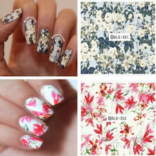 1 Sheet Flowers Water Decals Nail Art Decorations Floral Stickers Transfer