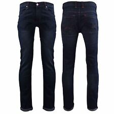 Mens D-Struct Dark Wash Denim Slim Fit Straight Leg Jeans Trousers Size W28 - 36