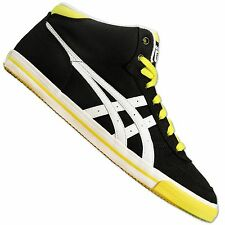 ASICS ONITSUKA TIGER AARON MID TOP TRAINERS SHOES MEXICO 66 BLACK WHITE YELLOW