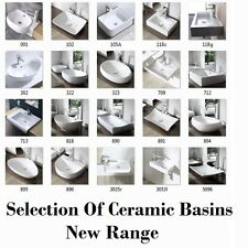 Bathroom Basin Sink Wall Mounted Hung Counter Top Ceramic Ensuite Cloakroom New
