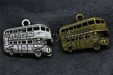 4/20/100pcs Antique Silver Beautiful Bus Jewelry Charm Pendant Craft 25x21mm Lot