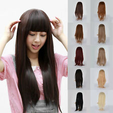 55~60cm 10Colors Women Half Head Synthetic Long Straight Hair Clip in Extension