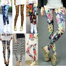 Women's Punk Sexy  Leggings Tight Pencil Skinny Pants Pick Funky Stretchy DDK