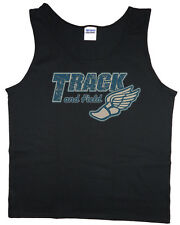 Men's tank top track and field winged shoe logo t-shirt sleeveless tee