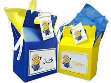 Personalised Minions Birthday Party Favour Sweets Lunch Gift Box/Bag