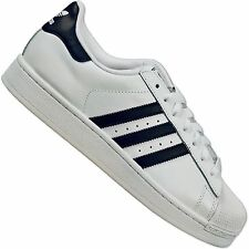 ADIDAS ORIGINALS SUPERSTAR 2 II MEN'S LEATHER SNEAKERS SHOES WHITE NAVY BLUE