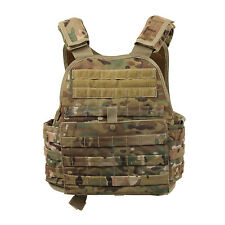 Rothco 8928 MOLLE Plate Carrier Vest - Front & Back Internal Sleeves - MultiCam