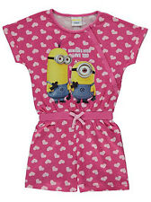 Girls Despicable Me Minions Playsuit Short Pyjamas All in One Age 2-7 Years NEW