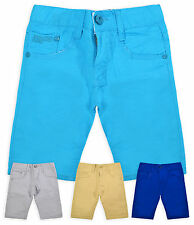 Boys Chino Style Short New Kids Cotton Rich Knee Length Summer Shorts 3-12 Years