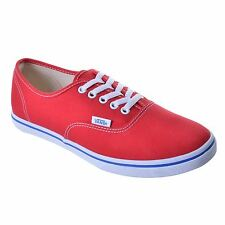Vans Authentic Lo Pro Red Womens Trainers