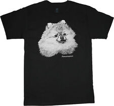 Pomeranian shirt dog breed t-shirt men's t-shirt black tee white design