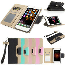 Luxury Fashion Deluxe Leather Wallet Flip Case Cover For Apple iPhone 6 6S Plus