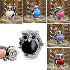 Fashion Ladies Watch Womens Watch Finger Watches Ring Watch Mini Watch Retro Owl