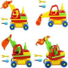 4 Patterns Child Baby Disassembly Assembly Cartoon Car Toy Kids Xmas Gift New