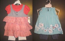 CALVIN KLEIN JEANS Girls 2 Piece infant /Toddler Girls Summer Outfit  12M or 4T