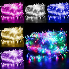 Battery Operated/Electric LED Fairy String Lights Garden Tree Outdoor Clear Wire