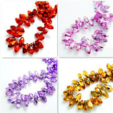 hot color 25PCS #6010 Teardrop Crystal glass Loose spacer BEADS 12x6mm