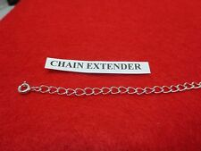 """1""""-12"""" STERLING SILVER PLATED 4MM NECKLACE EXTENDER WITH SPRING RING CLASP"""