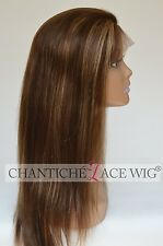 Remy Human Hair Lace Front&Full Lace Wigs Light Yaki Straight Highlight Full Wig