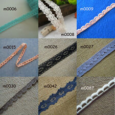 "5 Yards  9 Colors 3/8"" - 5/8"" Wide Vintage Cotton Crochet Trims Lace zhm3"