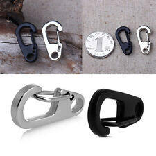 2/4/10pcs Durable Stainless Steel Split Keychain Key Ring Clasps Clips Snap Hook