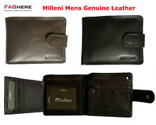 Milleni Mens Genuine Italian Leather Trifold Compact Wallet New C10541