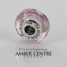 GENUINE PANDORA  SILVER S925 ALE-PINK SHIMMER MURANO CHARM-791650 RRP£40!!!