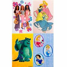 2pc Window Cling - Girls Barbie Princess Disney Cinderella Snow White Monsters