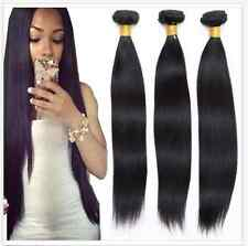 3 Bundles 100% Unprocessed Virgin Brazilian Straight Hair Extensions Human Weave