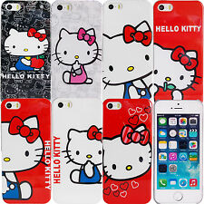 Cute Hello Kitty Case for Apple iPhone SE Plastic Snap on Protective Cover