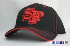 NWT SF BOLD INITIAL'S CONTRAST COLOR BASEBALL CAP ADJUSTABLE BACK BLACK / RED