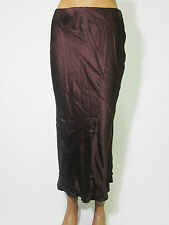 Ladies Skirt from Stefanel 75% Silk Size 30 38 dark Bordeaux Red OUT13042