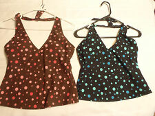 BAREFOOT MISS Size 8 8T 10 12 14T 16 16T Polka Dot Halter Swimsuit Choice NWT