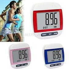 WaterProof Mini Digital LCD Pedometer Run Step Walking Distance Calorie Counter