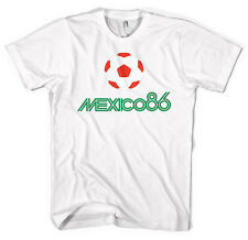 Mexico 86  World Cup Football Unisex Jersey T shirt  All Sizes Colours