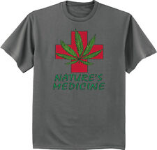men's big and tall t-shirt nature's medicine weed cannabis tall shirts for men
